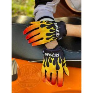 火焰 透氣 觸控 手套 手感 極佳 美國 THRASHIN