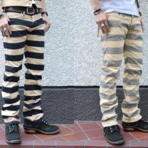 BORDER PANTS 囚紋長褲