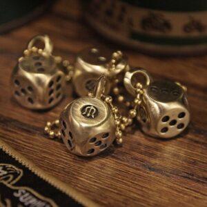 METALIZE黃銅骰子吊飾