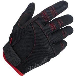 Biltwell MOTO GLOVES – BLACK/RED